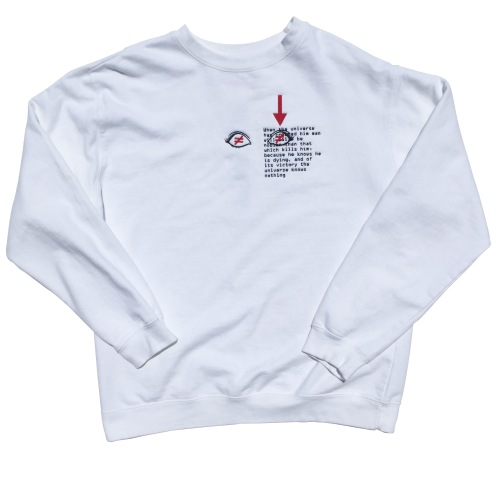 "Crewneck from @byseaggs recent ""SAM"" collection"