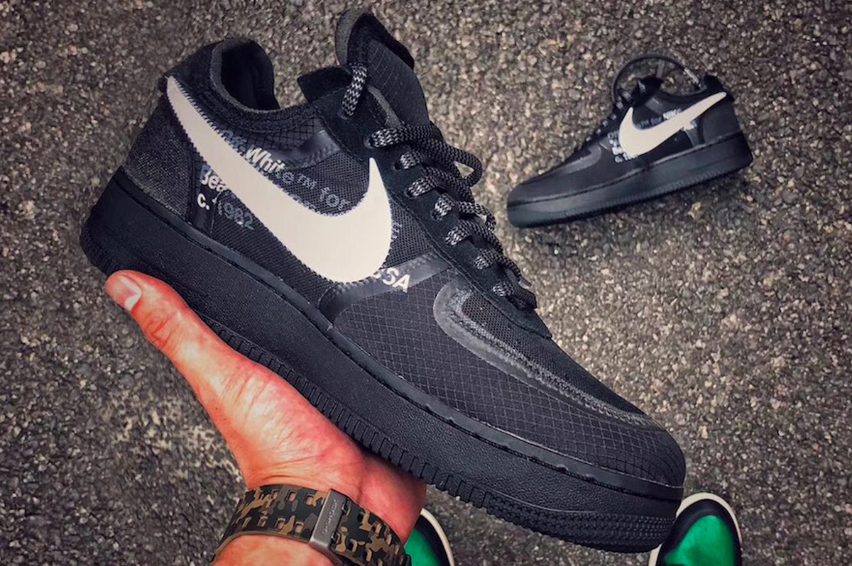 I NEED THESE: The Off-White™ x Nike Air Force 1 Surfaces in a New Black Colorway